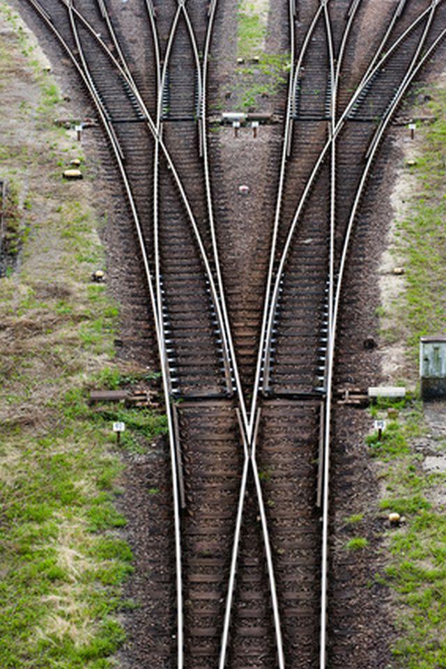 Bahngleise und Weichen